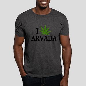 I Love Cannabis Arvada Colorado Dark T-Shirt