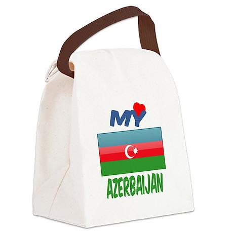 My Love Azerbaijan Canvas Lunch Bag