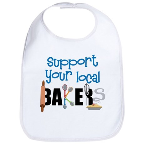 Support Your Local Bakers Bib