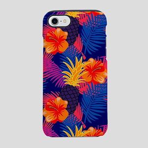 Neon tropical jungle floral pa iPhone 7 Tough Case