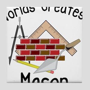 Worlds Greatest Mason Tile Coaster