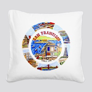 Vintage San Francisco Souvenir Graphics Square Can