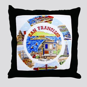 Vintage San Francisco Souvenir Graphics Throw Pill