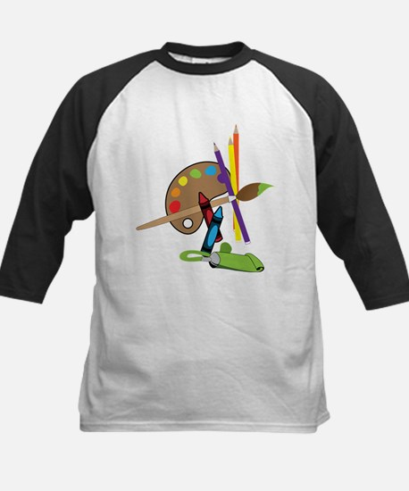 Artist Color Pallet Kids Baseball Jersey