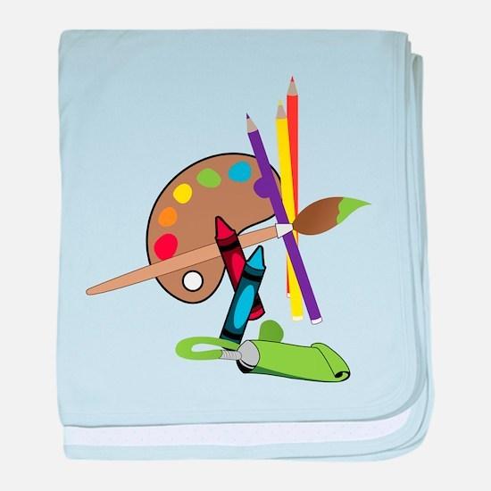 Artist Color Pallet baby blanket