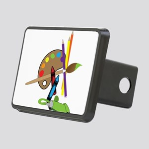 Artist Color Pallet Rectangular Hitch Cover