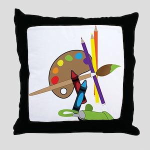 Artist Color Pallet Throw Pillow