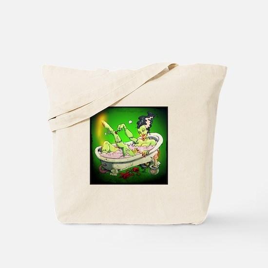The Bride in The Bath Tote Bag