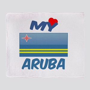 My Love Aruba Throw Blanket