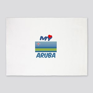 My Love Aruba 5'x7'Area Rug
