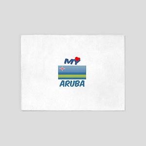 My Love Aruba 5'x7'Area Rug