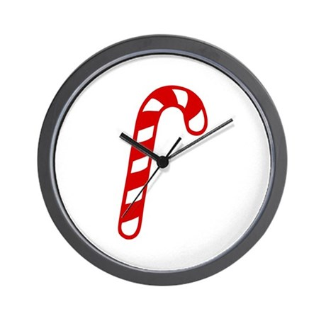 Candy cane christmas Wall Clock