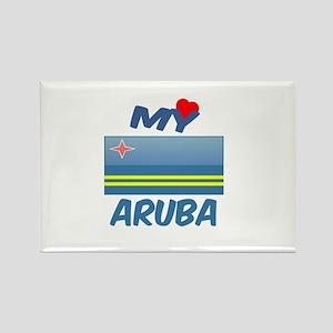 My Love Aruba Rectangle Magnet