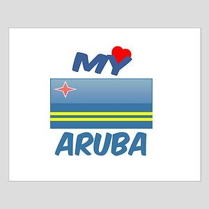 My Love Aruba Small Poster