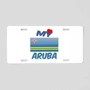 My Love Aruba Aluminum License Plate