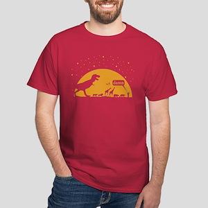 Noah and T-Rex, Witty Dark T-Shirt
