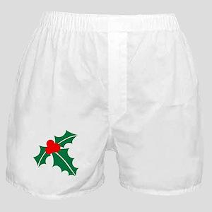Holly christmas Boxer Shorts