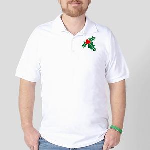 Holly christmas Golf Shirt