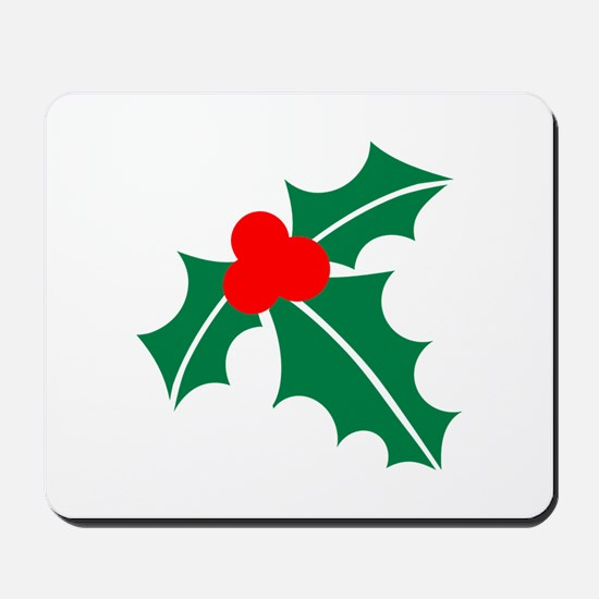 Holly christmas Mousepad