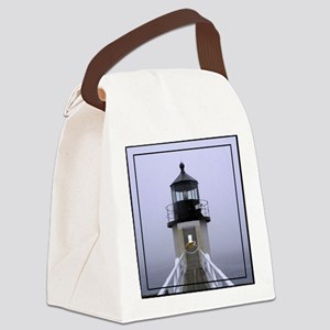 Lighthouse in the Fog Canvas Lunch Bag