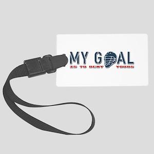 My Goal, Lacrosse Goalie Large Luggage Tag