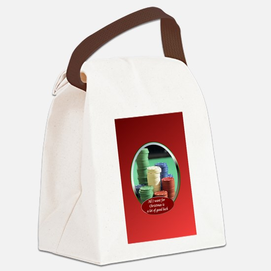Card-pokerchipsAllIWant.png Canvas Lunch Bag