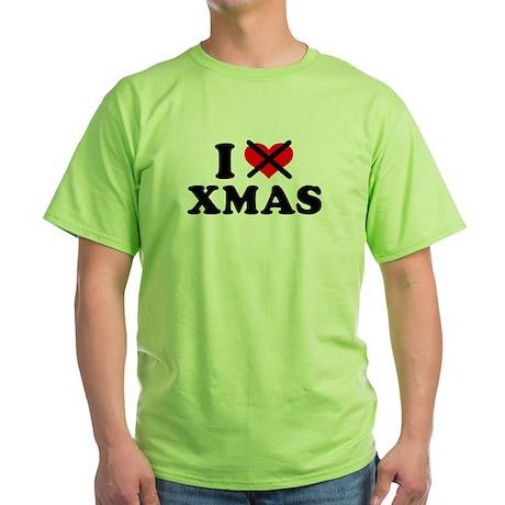 I hate xmas christmas Green T-Shirt