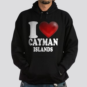 I Heart Cayman Islands Hoodie (dark)