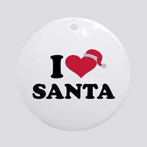 I love Santa Claus Ornament (Round)