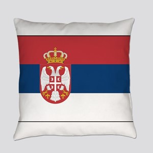 Serbia - National Flag - 2004-2010 Everyday Pillow