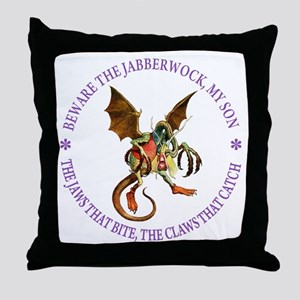 Beware the Jabberwock, My Son Throw Pillow