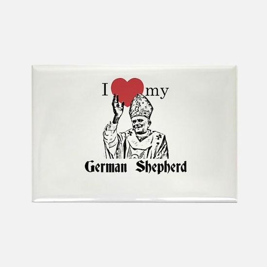 3-I Love My German Shepherd Gothic Magnets