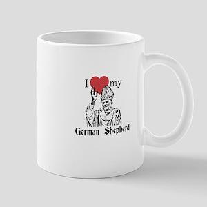 3-I Love My German Shepherd Gothic Mugs