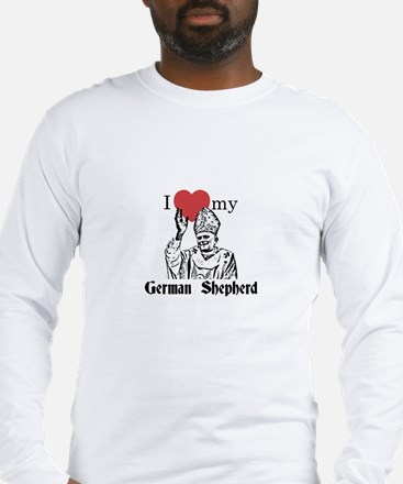 3-I Love My German Shepherd Gothic Long Sleeve T-S