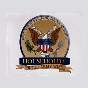 Household 6 - Army Wife Throw Blanket