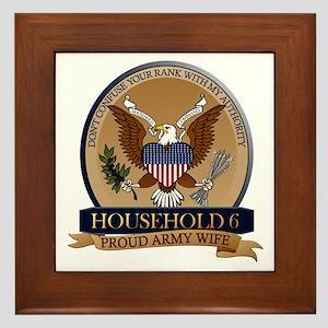 Household 6 - Army Wife Framed Tile
