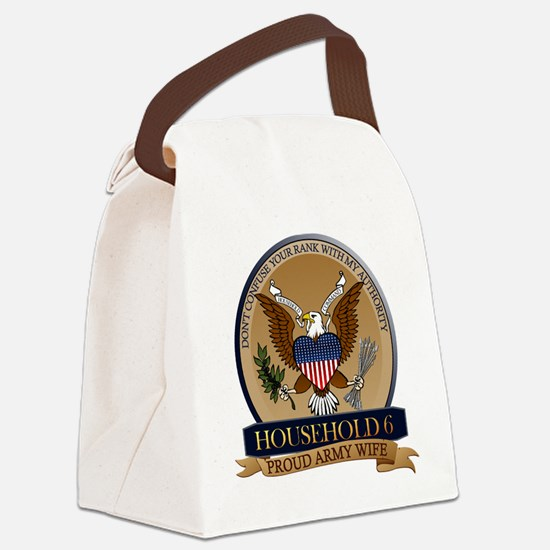 Household 6 - Army Wife Canvas Lunch Bag