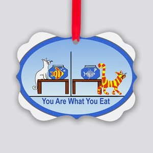 You are what you eat2 Picture Ornament