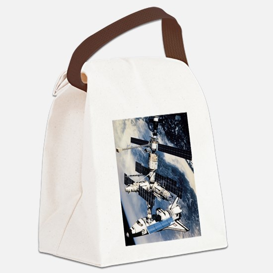 ShuttleatSpaceStationSmPoster.png Canvas Lunch Bag