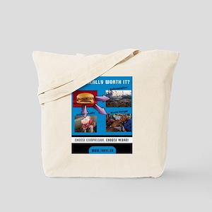 Choose Compassion, Choose Vegan Tote Bag