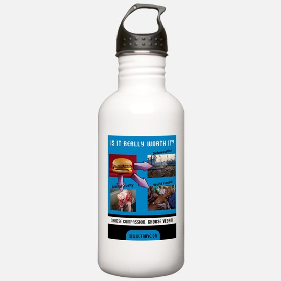 Choose Compassion, Choose Vegan Water Bottle