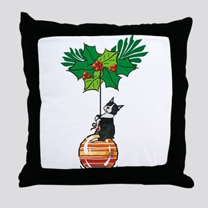 Boston on Ornament Throw Pillow