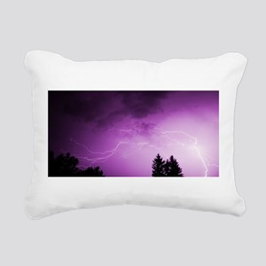 Purple Lightning Rectangular Canvas Pillow