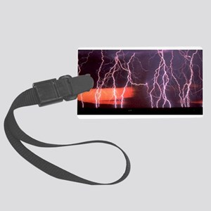 PurpleLightningPlate Large Luggage Tag