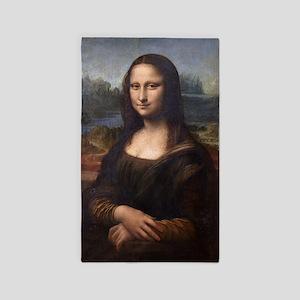 Leonardo Da Vinci Mona Lisa 3'x5' Area Rug