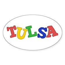 Tulsa Oval Sticker