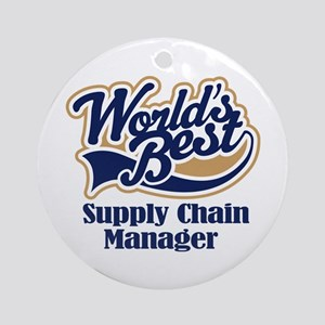 Supply Chain Manager (Worlds Best) Ornament (Round