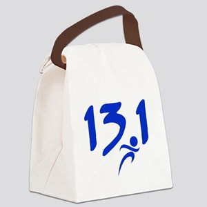 Blue 13.1 half-marathon Canvas Lunch Bag
