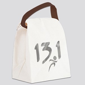 Silver 13.1 half-marathon Canvas Lunch Bag