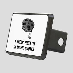 Speak Movie Quotes Rectangular Hitch Cover